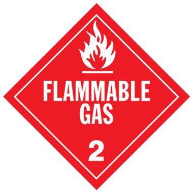 Flammable Gas Class 2 Placard Sign Sticker Raney S Truck