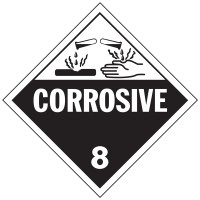 Corrosive Class 8 Placard Sign