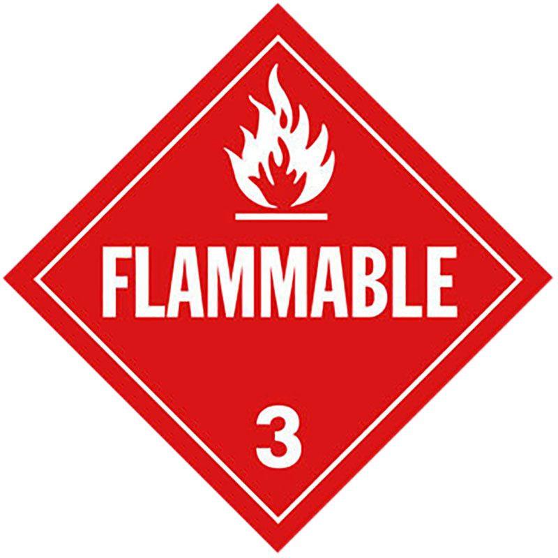 Flammable Gas Class 3 Placard Sign