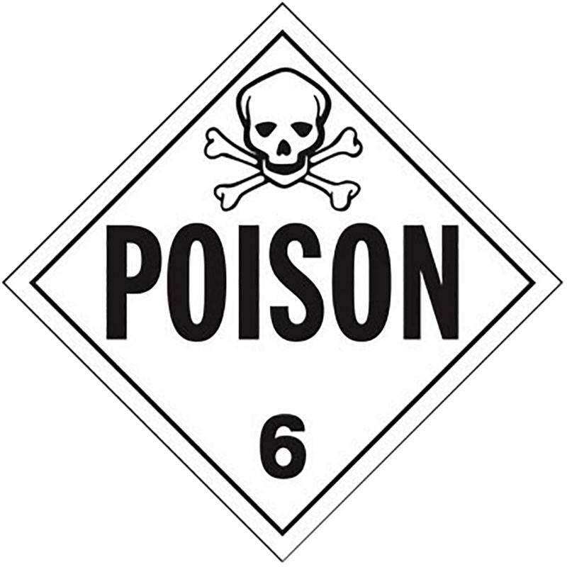 Poison Gas Class 6 Placard Sign Sticker Raney S Truck Parts