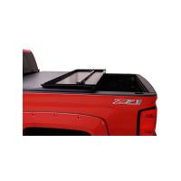 Chevrolet Silverado GMC Sierra 1500 2500 3500 Premium Hard Fold Tonneau Cover Open