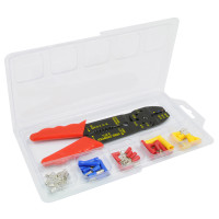 44 Piece Wire Terminal Kit with Wire Cutting & Crimping Tool