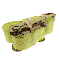 "4"" x 30' Heavy Duty Ratchet Tie Down Strap With Flat Hook"