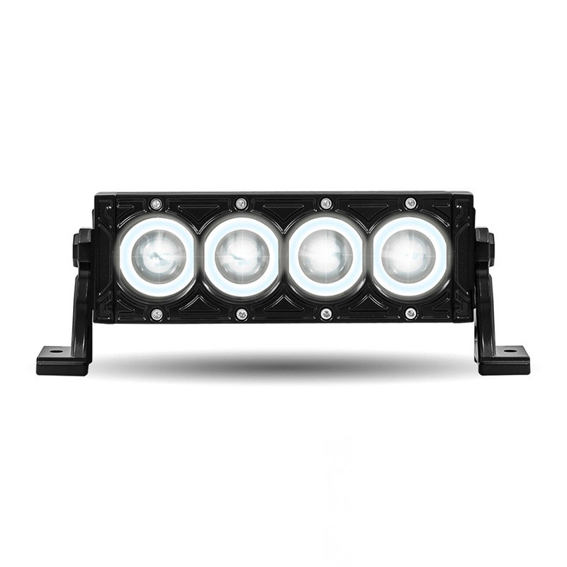 Halo led single row work light bar raneys truck parts 85 light bar mozeypictures Image collections