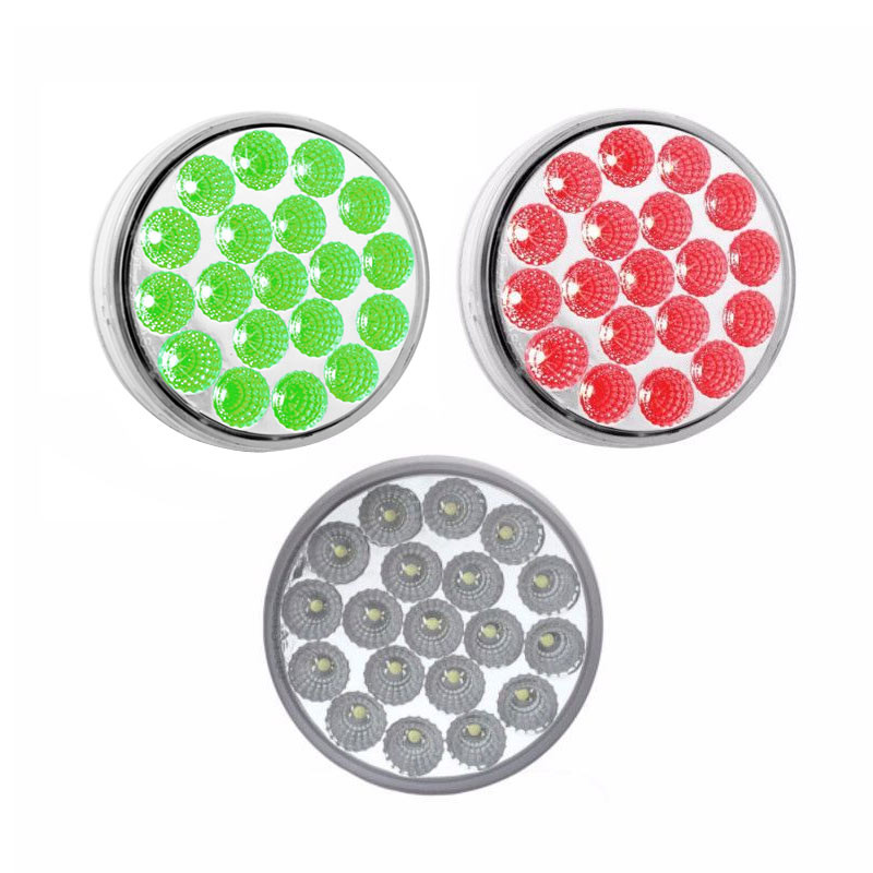 4'' Dual Green/Red Stop Turn & Tail LED
