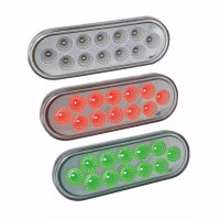 Dual Revolution Oval Stop Tail Turn Red & Green LED Light