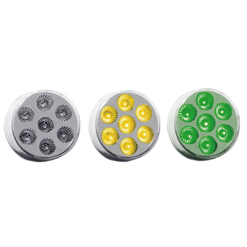 "2"" Round Dual Revolution Amber & Green LED Marker Light"