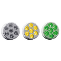 "2"" Round Dual Revolution Amber & Green LED Marker Light"