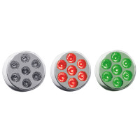 "2"" Round Dual Revolution Red & Green LED Marker Light"