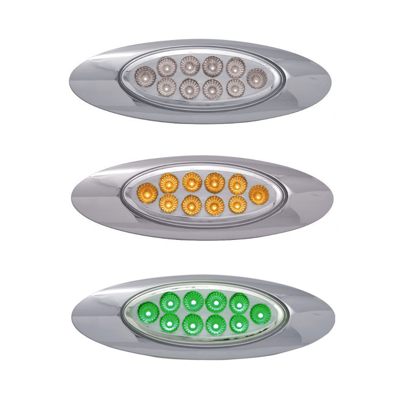 M1 Style Dual Revolution Amber & Green LED Marker Light