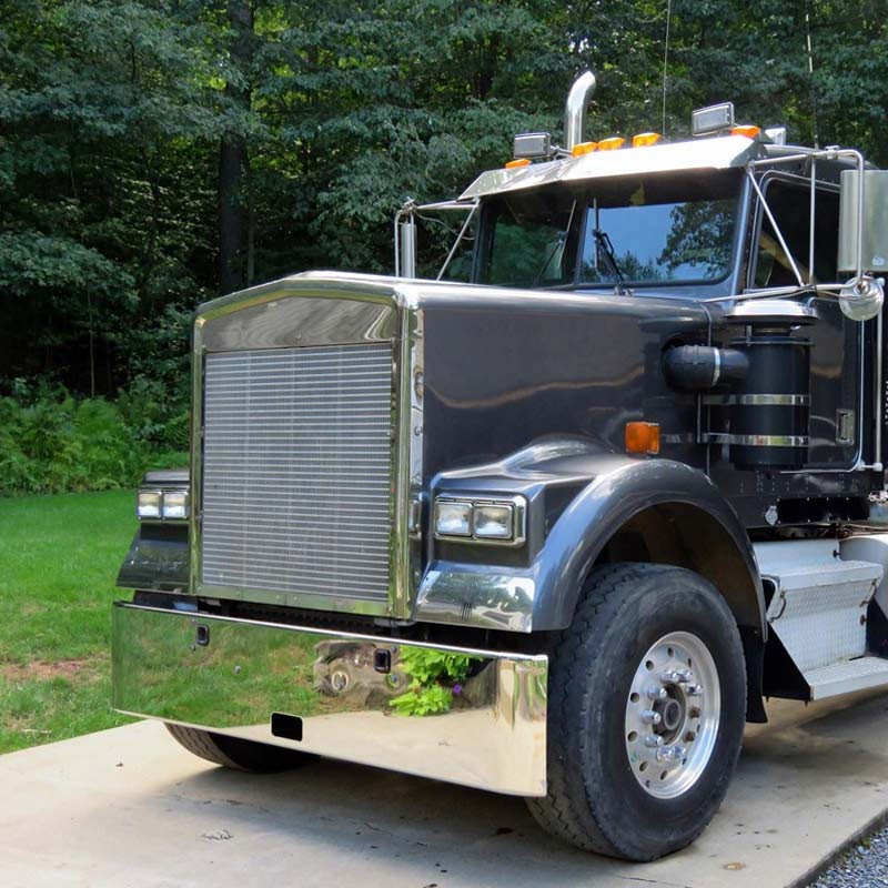 Valley Chrome Bumpers : Kenworth w b chrome texas square bumper by valley