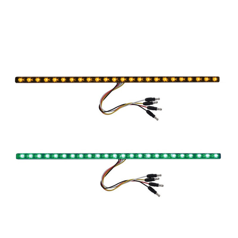 "17"" Dual Revolution Light Strip Amber & Green LED Marker Light"