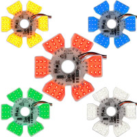 Ultra Thin Dual Function LED Air Cleaner Hex Light All Colors
