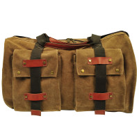 Multi-Pocket Canvas Duffle Bag