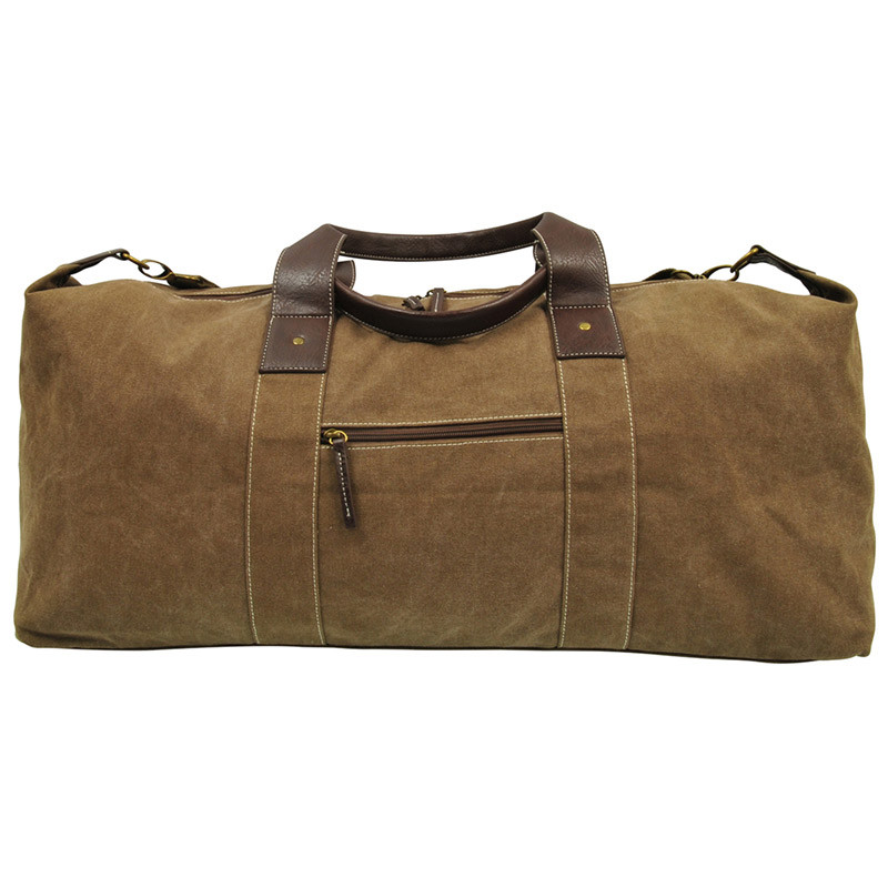 Large Canvas Duffle Bag With Adjustable