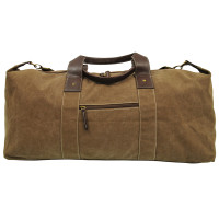 Large Canvas Duffle Bag With Adjustable Shoulder Strap