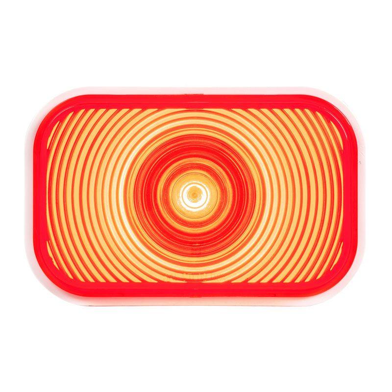 Rectangular Single High Power Red LED STT Light