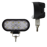 8 LED Oval Wide Angle Driving Work Light