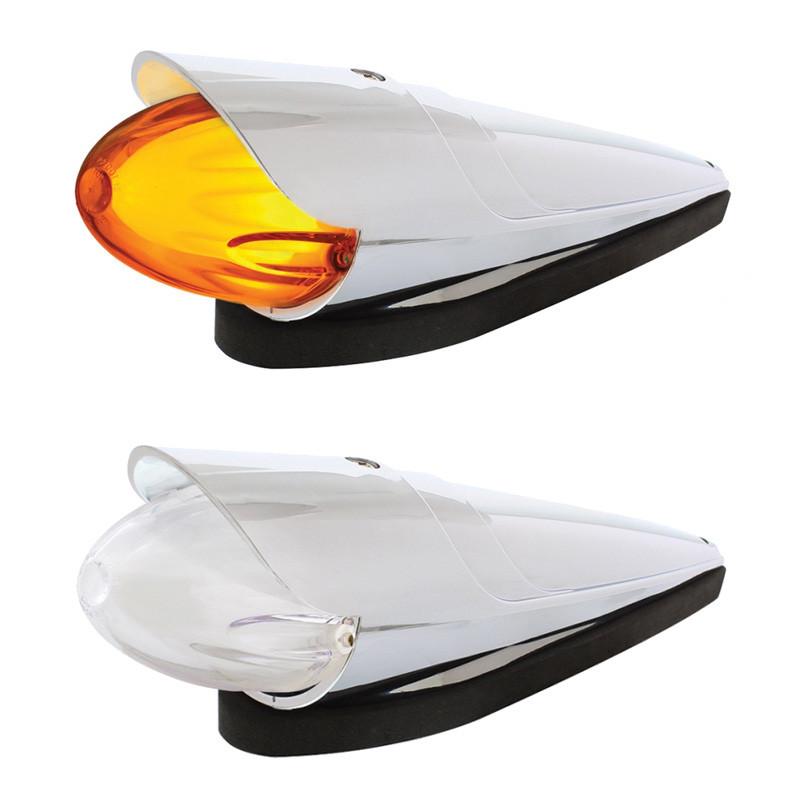 Dual Function 9 Amber LED Cab Light GLO Grakon 1000 Style With Lipped Visor
