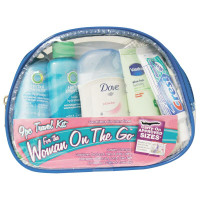 Women's 9 Piece Travel Kit With Zippered Bag