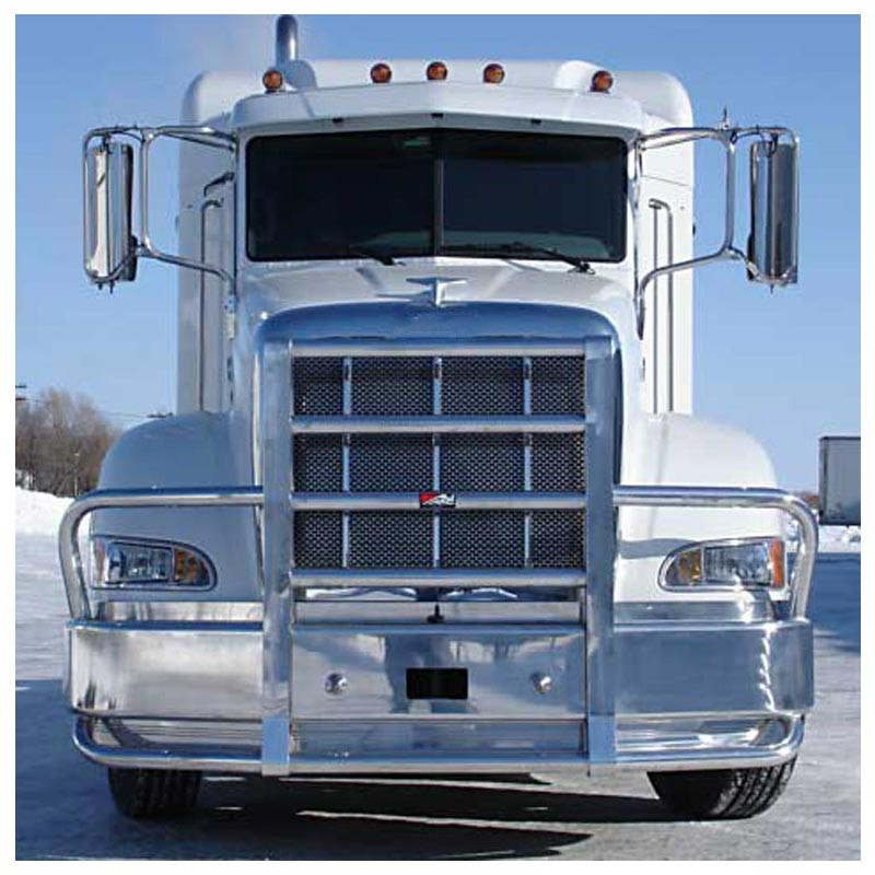 Peterbilt 386 Ali Arc Curved Front Bumper Grill Guard