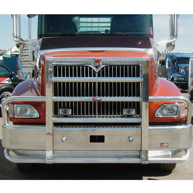 International 9200 9400 SBA Ali Arc Curved Front Bumper Grille Guard