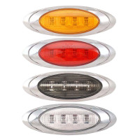 Oval P1 LED Clearance Marker Lights