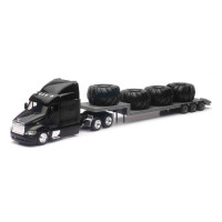Peterbilt 387 With Stepdeck Trailer & Tractor Tires 1/43 Scale