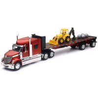 International LoneStar With Flatbed Trailer 1/32 Scale