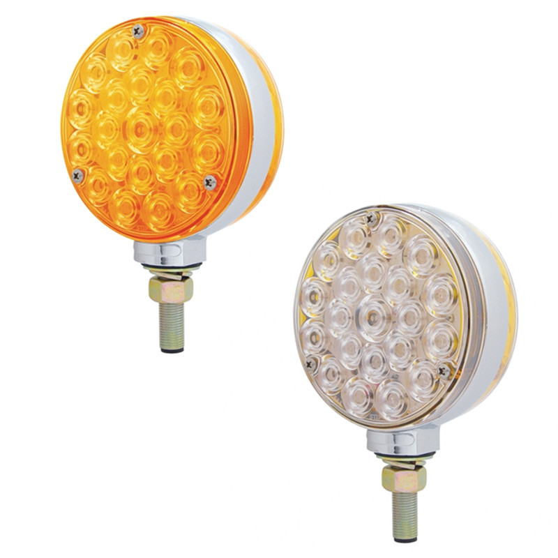 42 LED Round Double Face Turn Signal Light - Styles
