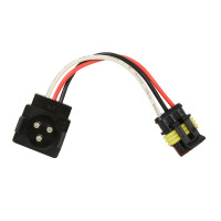 3 Pin Light Adapter Plug Round 3 Pin To Straight 3 Pin