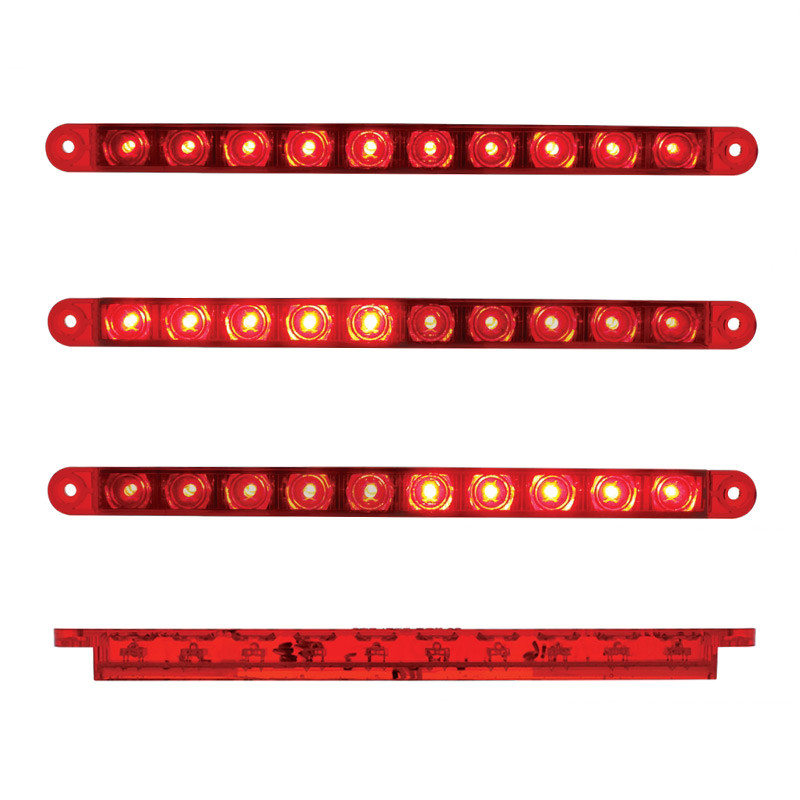 "10 Red LED 9"" STT Light Bar"
