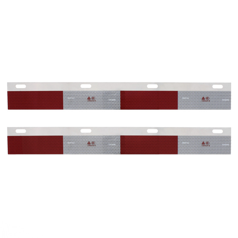 Aluminum Top Mudflap Plate Conspicuity Reflectors