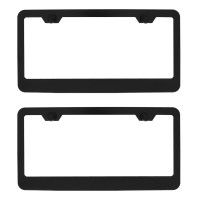 Dual Black Metal License Plate Frame Kit