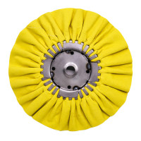 "Renegade 9"" Yellow Mill Treated Airway Buffing Wheel 20 Ply"