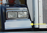 Freightliner Classic XL Long Hood Lower Fender Guards