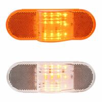 12 Amber LED Oval Side Marker & Turn Lights