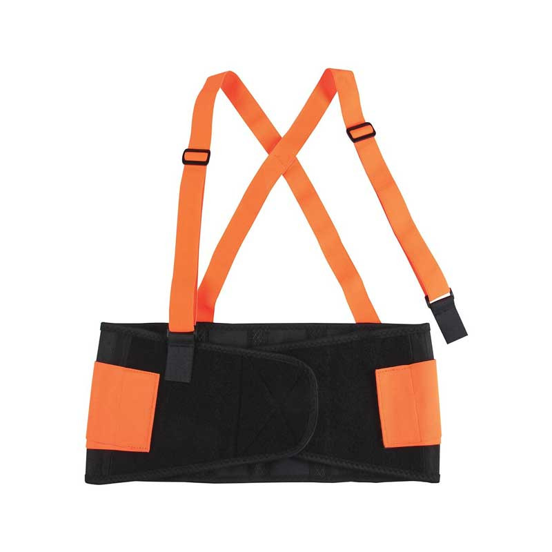 High Visibility Back Support Belt With Adjustable & Detachable Suspenders