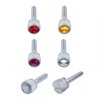 Kenworth Chrome Long Dash Screws With Colored Diamond