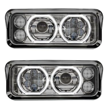 Freightliner Classic Fld Sd Chrome Projector Headlight
