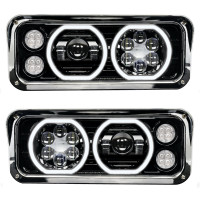 LED Projector Headlight Assembly With Black Finish