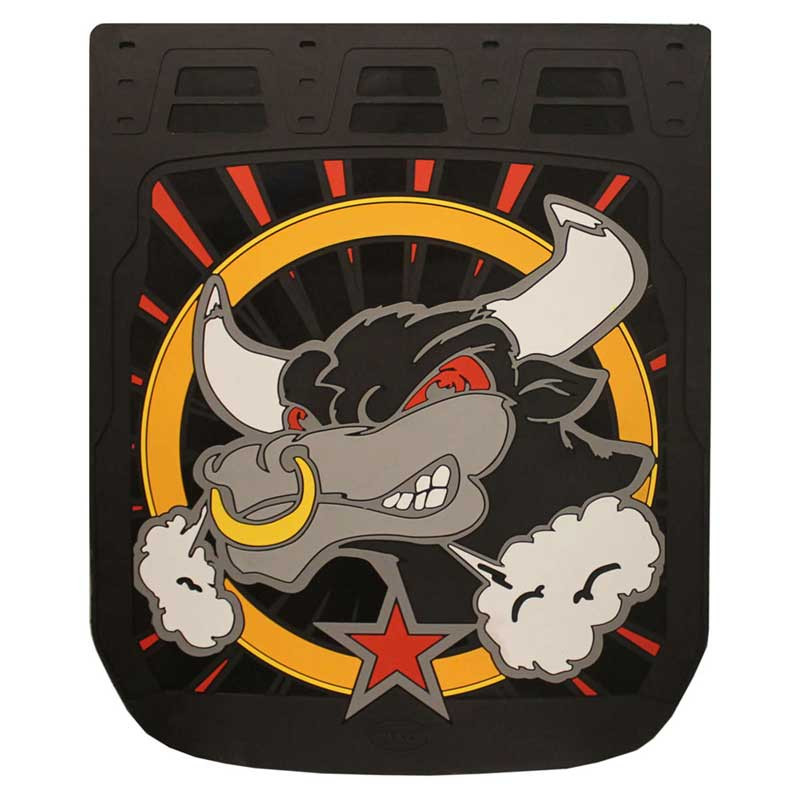 "24"" x 30"" Angry Bull Mud Flaps With Black Background"