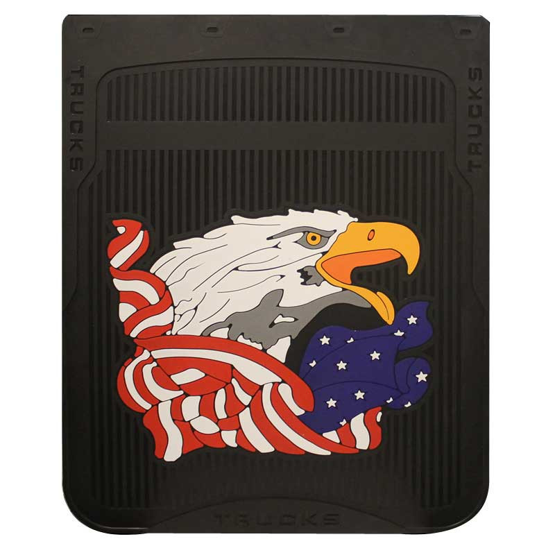 """24"""" x 30"""" American Eagle Mud Flaps With Black Background"""