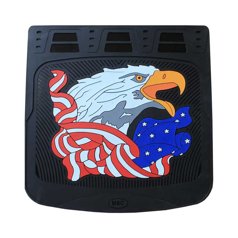 """24"""" x 24"""" American Eagle Mud Flaps With Black Background"""