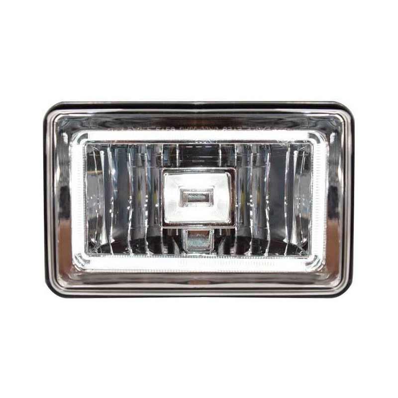 "6"" x 4"" LED Halo Angel Eye Headlight High & Low Beam - Front Lit"