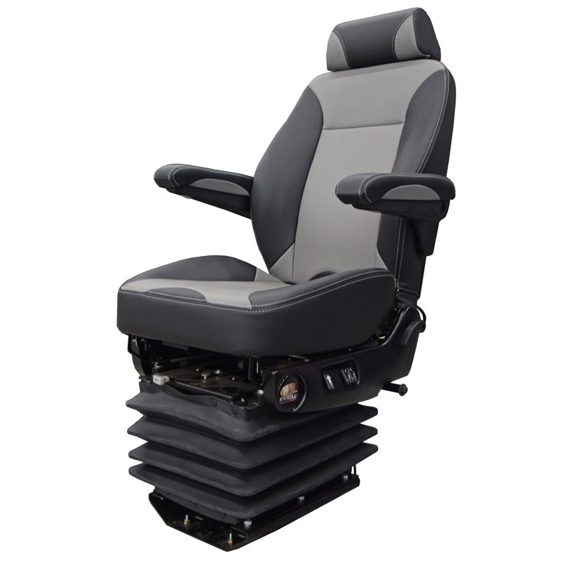 Air Chief Mid Back Truck Seat With Headrest By Knoedler Grey