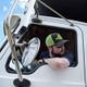 Snapback Neon Green Hammerlane Trucker Hat On Model 2