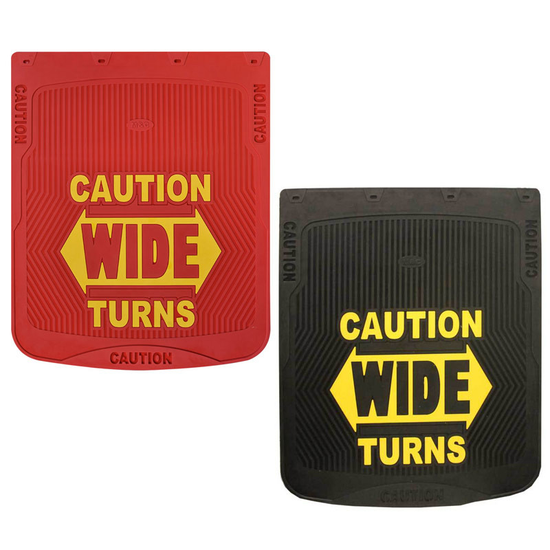 "24"" x 30"" Caution Wide Turns Mud Flaps"