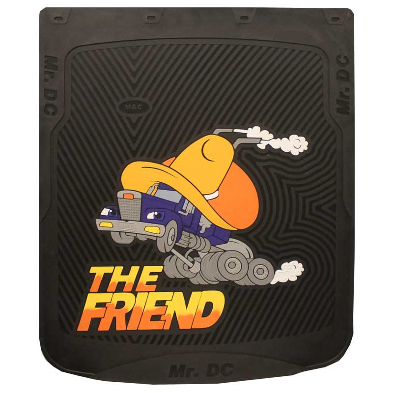 """24"""" x 30"""" The Friend Mud Flaps With Black Background"""