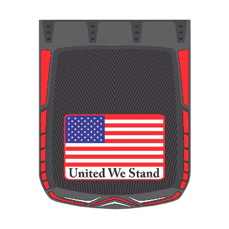 """24"""" x 30"""" United We Stand Mud Flaps With Black Background"""
